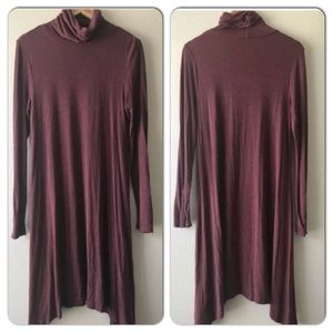 Mauve Anthropologie Tunic High Neck L/S Dress M